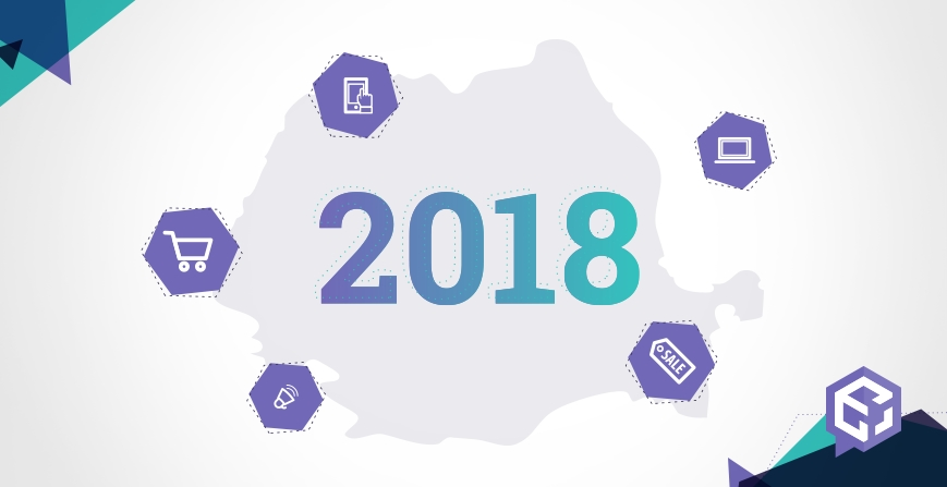 What was the year 2018 in Romanian ecommerce like?